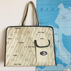 Vintage 1960's Travel/Flight Tote Bag - BTS